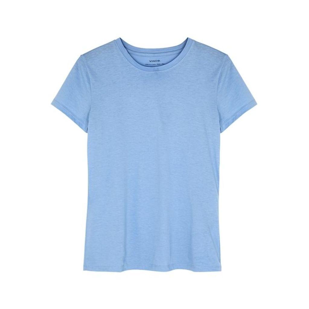 Vince Blue Slubbed Pima Cotton T-shirt