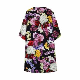 Dolce & Gabbana Floral-print Jacquard Coat