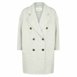 American Vintage Dadoulove Grey Wool-blend Coat