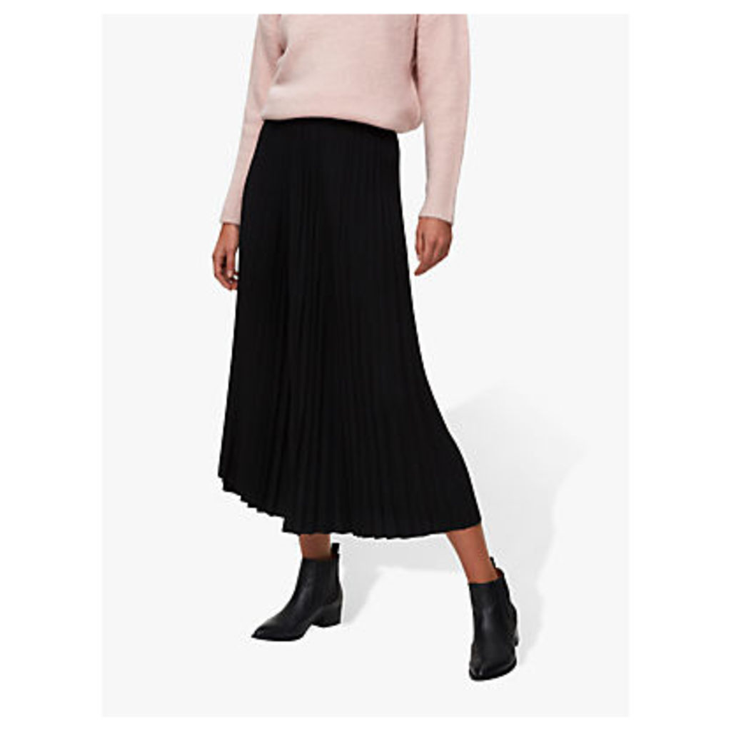 Selected Femme Alexis Pleated Maxi Skirt, Black