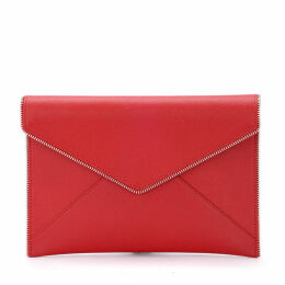 Rebecca Minkoff Leo Red Leather Envelope Clutch