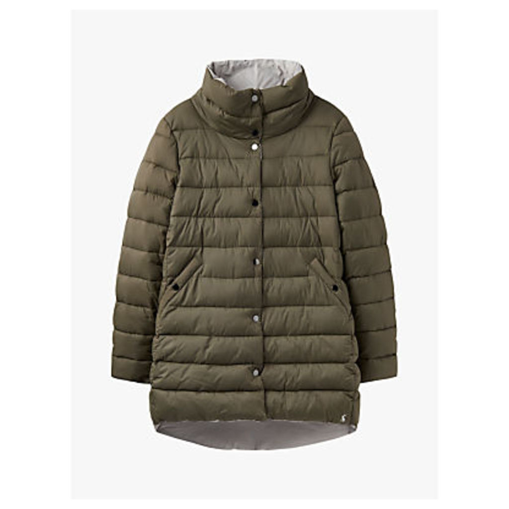 Joules Wroxham Reversible Puffer Jacket, Grape Leaf