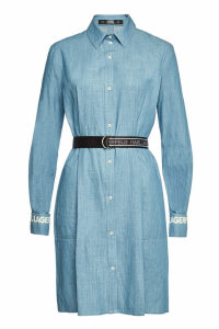 Karl Lagerfeld Cotton Shirtdress with Logo Cuffs