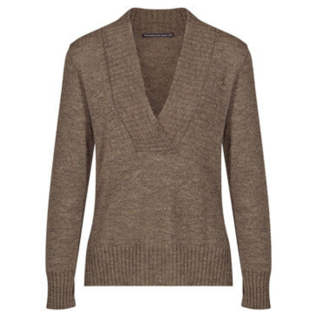 Mado Et Les Autres  Warm and modern sweater  women's Sweater in Beige