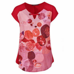 Mado Et Les Autres  Arty tunic  women's Blouse in Red