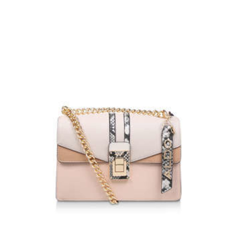 Aldo Bisegna - Nude Snake Print Cross Body Bag