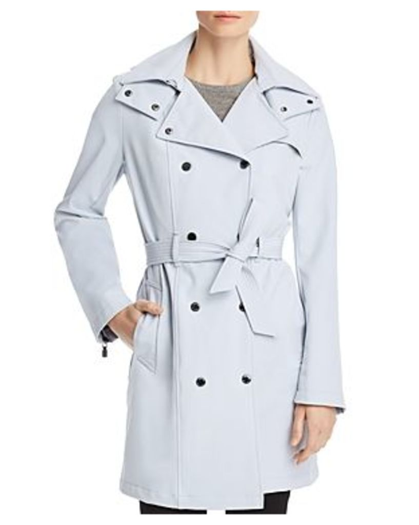 Calvin Klein Belted Double-Breasted Front Trench Coat