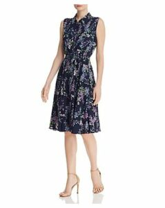 nanette Nanette Lepore Floral Pintuck-Detail Dress