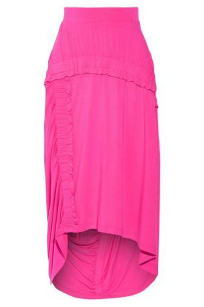 Preen Line Woman Sandy Ruffled Stretch-jersey Skirt Bright Pink Size M