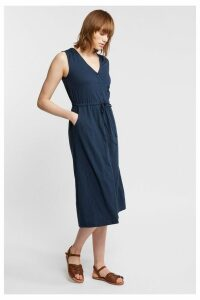 Womens FatFace Heidi Jersey Midi Dress -  Blue