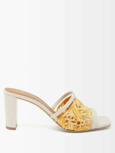 D'ascoli - Tabriz Floral Print Cotton Shirt - Womens - Blue Print