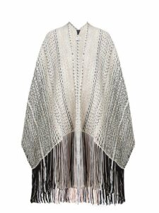 Wehve - Tasselled Wool Blend Cape - Womens - Black
