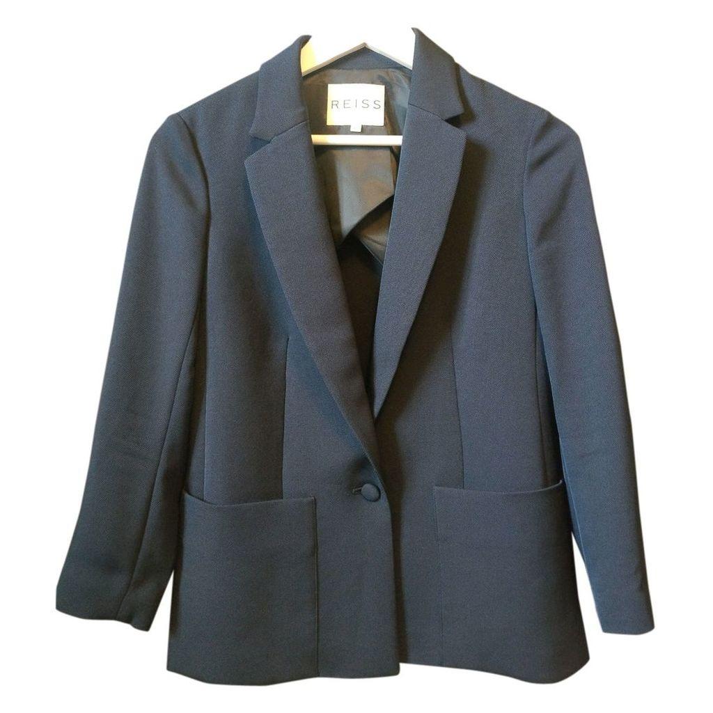 Navy Polyester Jacket