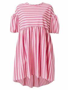 Henrik Vibskov striped dress with puff sleeves - Pink