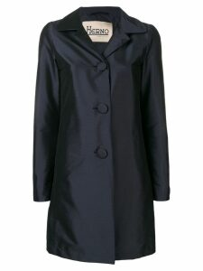 Herno single-breasted tailored coat - Blue