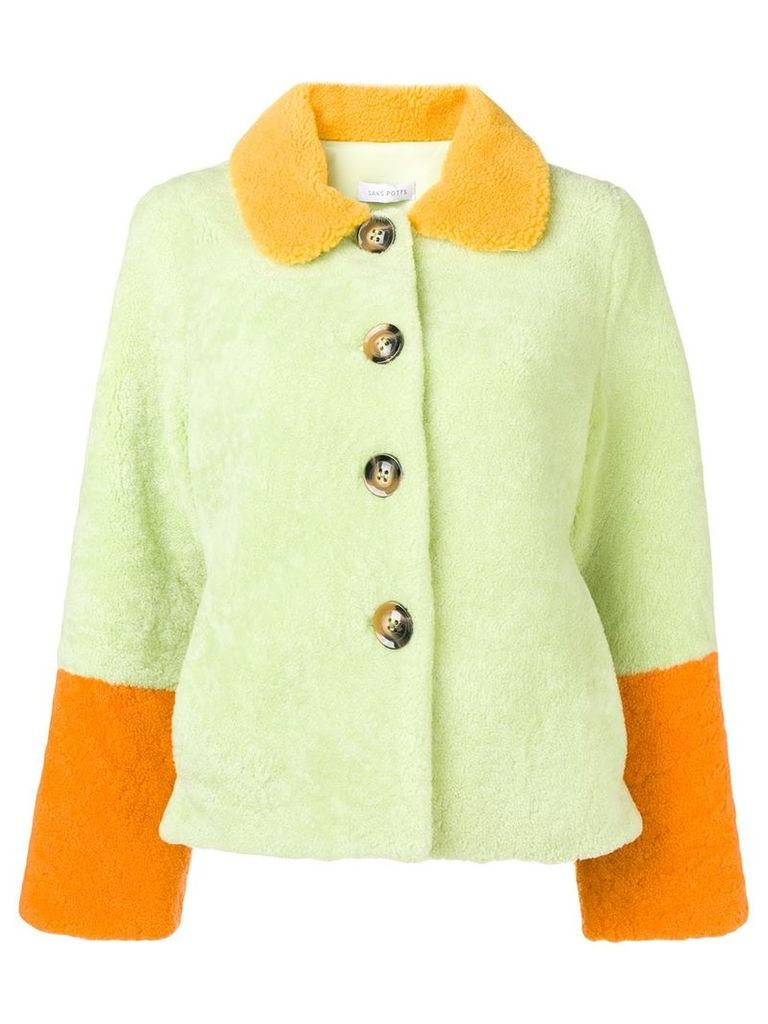Saks Potts lime green wool jacket