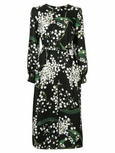 Oscar de la Renta floral print midi dress - Black
