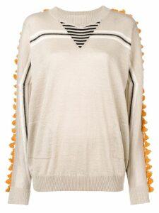 Loewe pompom embellished jumper - Brown