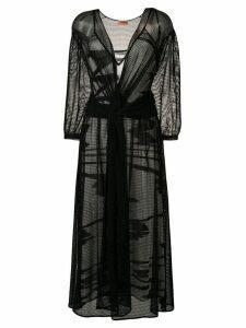 Missoni layered graphic print dress - Black