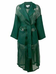 Loewe oversized belted coat - Green