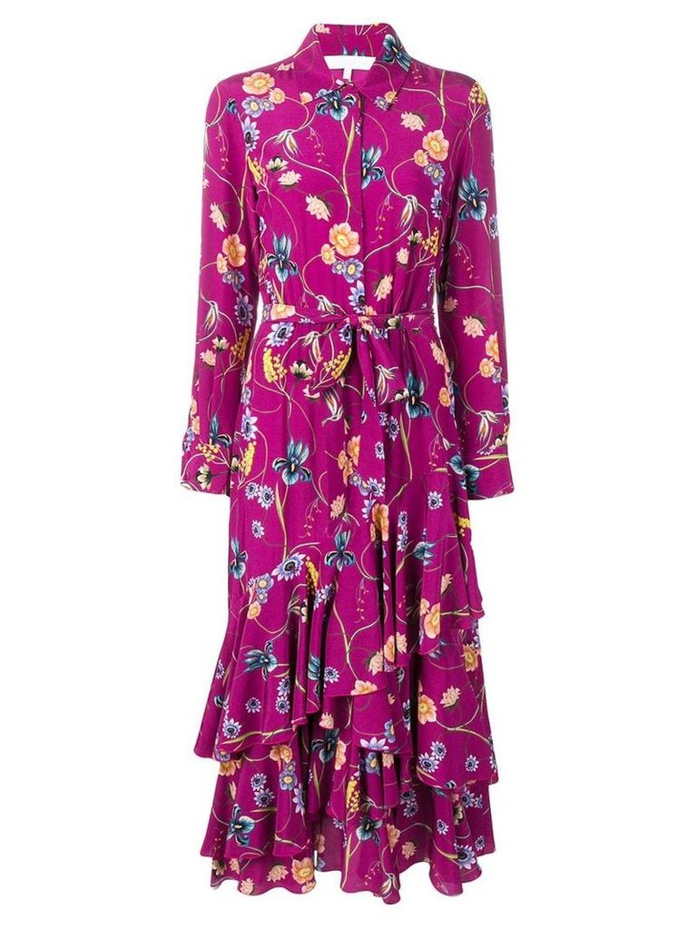 Borgo De Nor floral print shirt dress - Purple