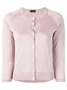 Roberto Collina lurex knit cardigan - Pink
