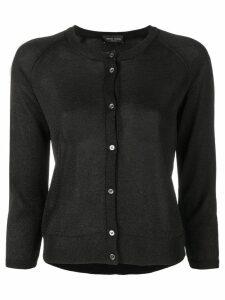 Roberto Collina lurex knit cardigan - Black