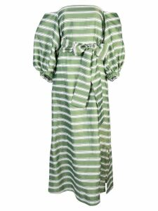 Lisa Marie Fernandez striped off shoulder dress - Green