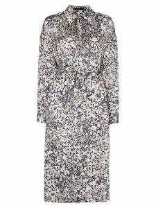 Low Classic printed midi shirt dress - Neutrals