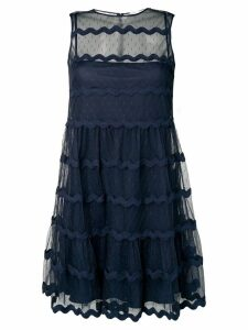Red Valentino wavy tulle dress - Blue