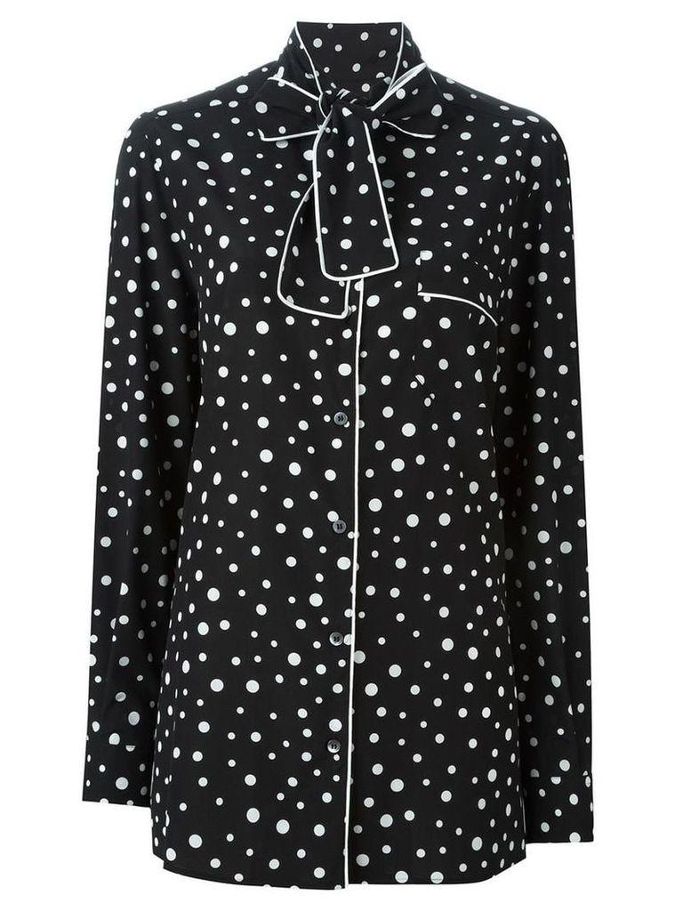 Dolce & Gabbana polka dot print pyjama shirt - Black