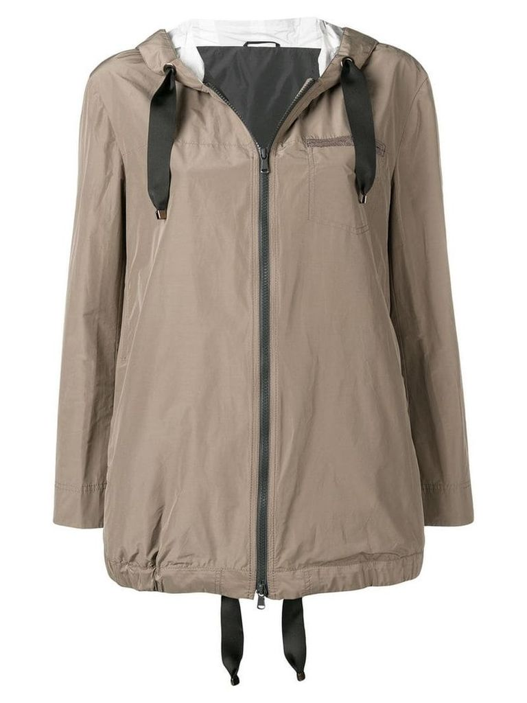 Brunello Cucinelli hooded parka coat - Neutrals