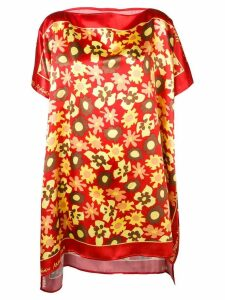 Mm6 Maison Margiela floral print tunic dress - Red