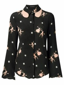 Etro star print shirt - Black
