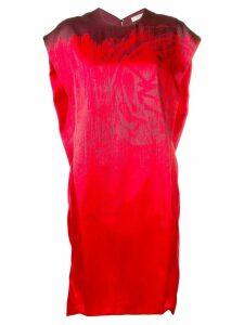 Poiret print detail oversized dress - Red