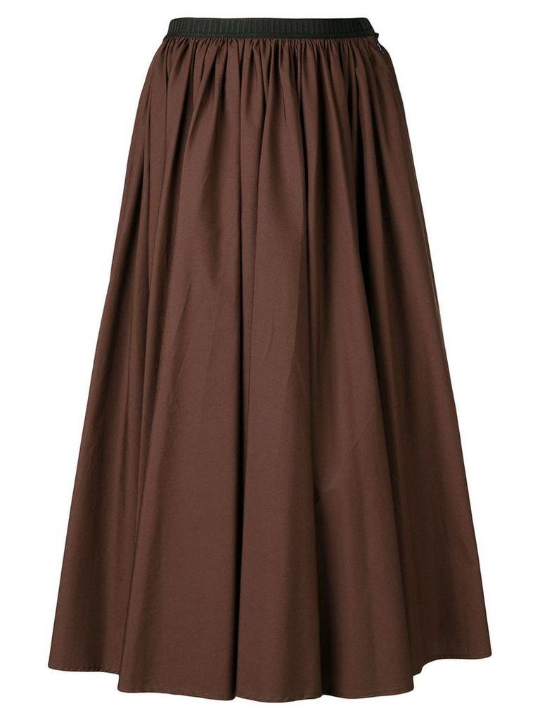 Antonio Marras contrast waistband midi skirt - Brown