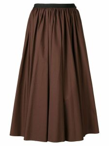 Antonio Marras contrast waistband midi skirt - Brown