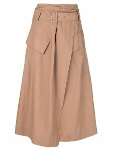 Vince high-waisted midi skirt - Brown