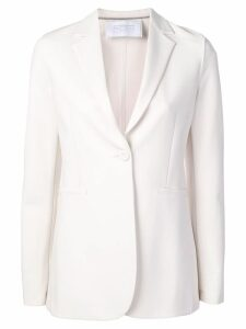 Harris Wharf London one button blazer - White