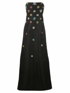 Carolina Herrera strapless silk gown - Black