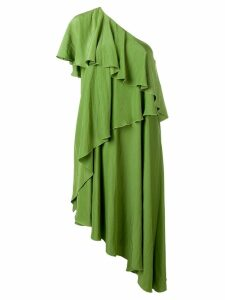 Lanvin ruffle tiered dress - Green