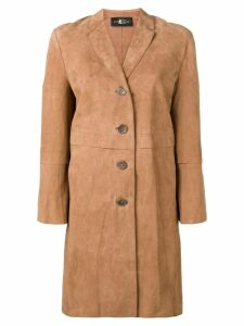 Luisa Cerano suede panels coat - Brown