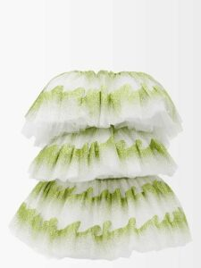 Mary Katrantzou - Butterfly Printed Flared Faille Dress - Womens - Red White