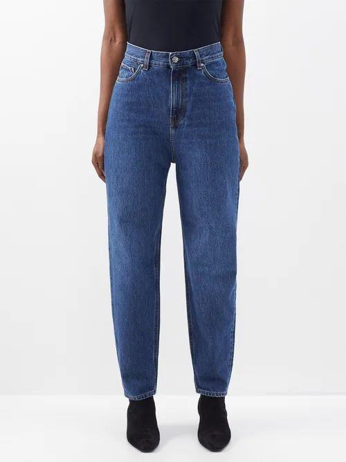 Mary Katrantzou - Egret Jacquard Striped Organza Midi Skirt - Womens - Multi