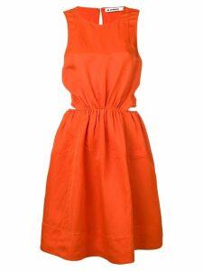 Jil Sander sleeveless flared dress - Orange