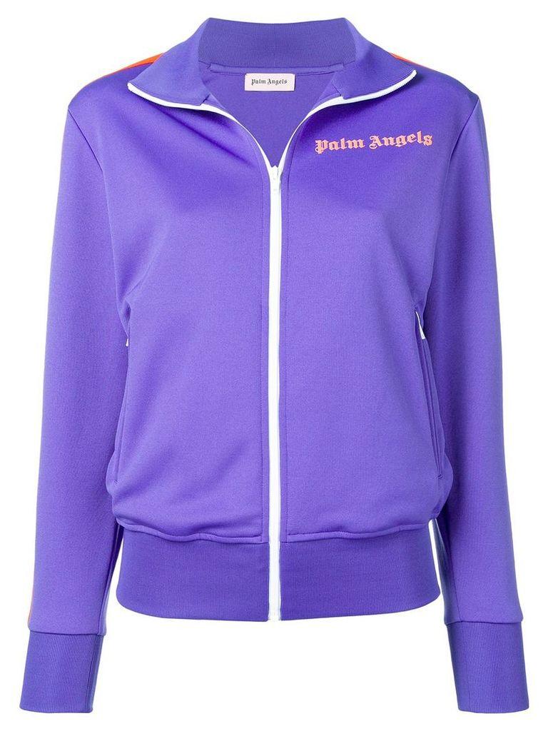 Palm Angels jersey track jacket - Purple