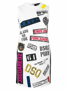 Dsquared2 patch dress - White