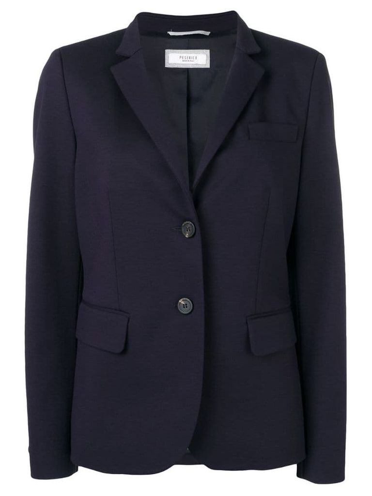 Peserico single-breasted blazer - Blue