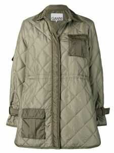 Ganni Aloe quilted coat - Green