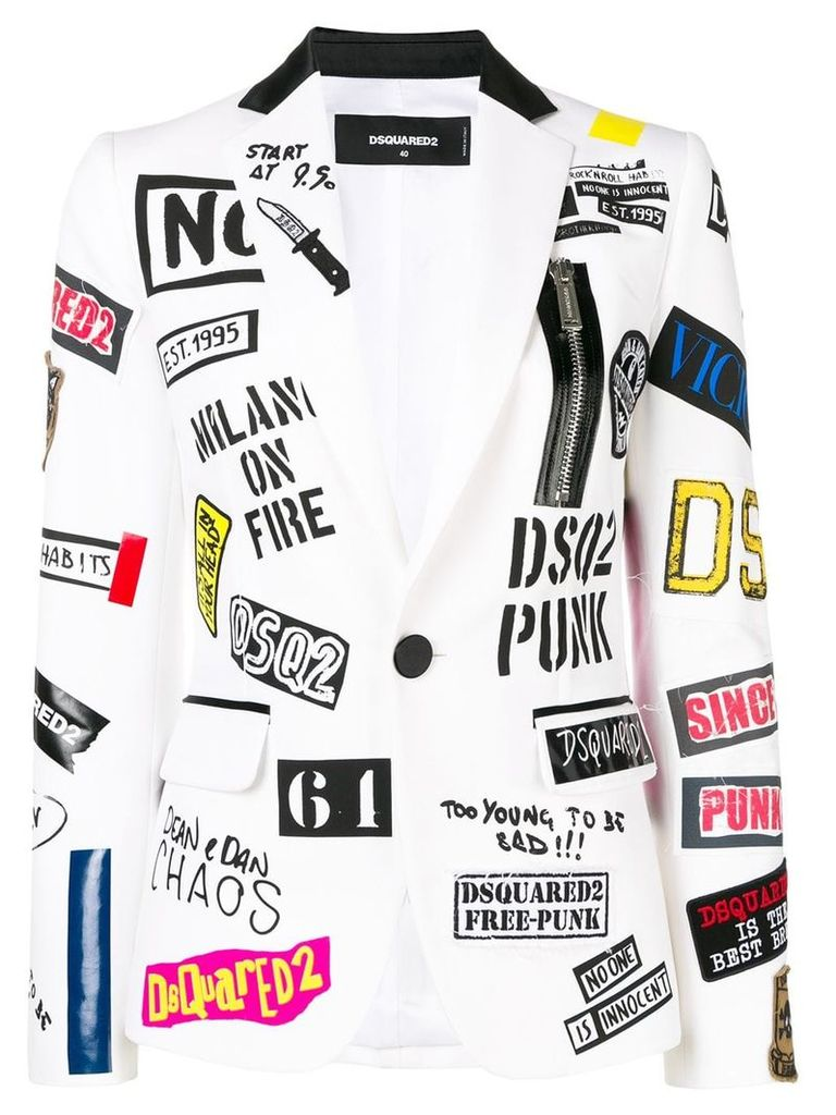 Dsquared2 patched blazer - White